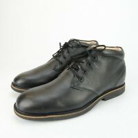 Abeo Nash Black Leather Orthotic Comfort Ankle Boots Mens Size 8.5 Metatarsal