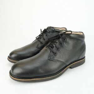 Abeo Nash Black Leather Orthotic Comfort Ankle Boots Mens Size 8.5 M Metatarsal