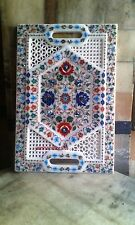 "size 18""x12""  Marble tray decorative inlay stone work  handicraft"