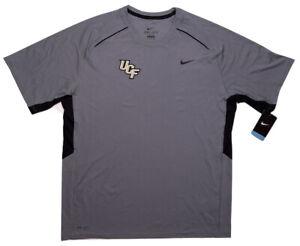 NIKE UCF Knights Short Sleeve Performance Dri-Fit T-Shirt Gray XL ~ New