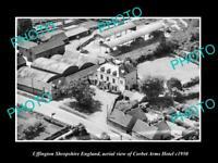 OLD LARGE HISTORIC PHOTO UFFINGTON SHROPSHIRE ENGLAND CORBET ARMS HOTEL c1950