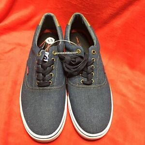 Levis Mens Canvas Tennis Shoes 13 New Comfort Office Career Work Lace Up