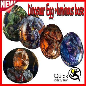 Lava Dragon Egg Transparent Crystal Dinosaur Egg Resin Sculpture Souvenir Gift~~