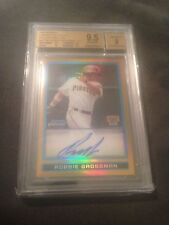 2009 Bowman Chrome ROBBIE GROSSMAN Rc Rookie AUTO /50 GOLD REFRACTOR Ref Bgs 9.5