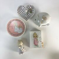 Lot of 5 vintage Precious Moments ceramic collectibles