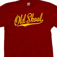Old Skool Script Tail Shirt - School Guys Men Rule Cool Tee - All Size & Colors