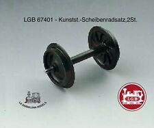 LGB 67401 - Kunstst.-Scheibenradsatz,2St.. / Eje liso LGB (2unidades) (c104)