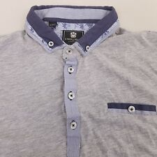 Steel & Jelly Mens Jersey Polo Shirt Size Large Cotton Gray