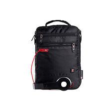 Swisswin Men's Black Crossby Single Shoulder Messenger Satchel Sport Travel Bag
