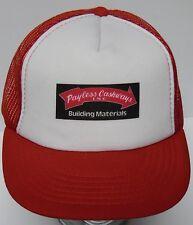 Vtg 1980s PAYLESS CASHWAYS BUILDING MATERIALS HOME SNAPBACK ADVERTISING HAT CAP