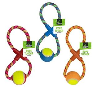 DOG TOYS STRONG LARGE TUGGER BALL ROPE THROWING HEAVY DUTY FETCH ROPE PET TOY UK
