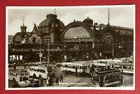 Foto AK DRESDEN um 1930 Hauptbahnhof mit Verkehr Strassenbahn Autobus ( 67619
