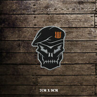 Call of Duty Black OPS Skull Face Embroidered Iron On Sew On Patch Badge