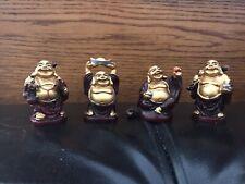 """Set Of 4 Buddha Figures, 2"""""""