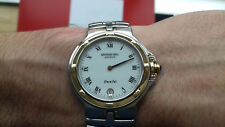 RAYMOND WEIL STEEL AND 18K SOLID GOLD SWISS WATCH VINTAGE PARSIFAL 9190 MONTRE