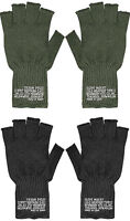 Military Fingerless Wool Gloves USA Made