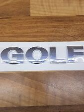 VW Golf Badge Emblem Volkswagen Golf Rear Badge letters GOLF