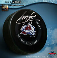 CALE MAKAR Signed Colorado Avalanche Official Game Puck