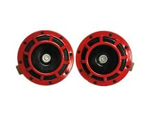 12V RED SUPER LOUD BLAST TONE GRILL MOUNT ELE COMPACT CAR HORN 335/400HZ BALD125