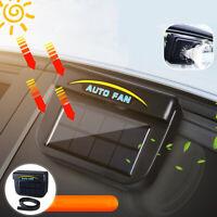 Auto Car Window Air Vent Cooling Fan Sun Solar Powered Cooler Radiator
