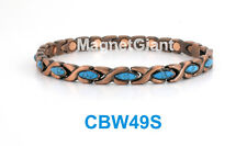 Turquoise hugs and kiss Women Copper link high power magnetic bracelet CBW49S