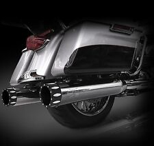 "RCX Exhaust 4.5"" Chrome Muffler, Rival Eclipse for Harley Touring 2017-2019"
