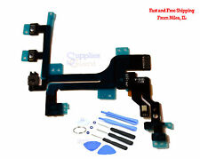 Power Mute Volume Button Switch Connector Flex Cable Mic for iphone 5C HQ +Tools