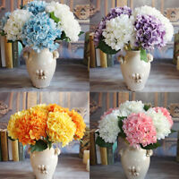 6 Heads Hydrangea Silk Fake Flowers Flores Artificiales Wedding Party Home Decor