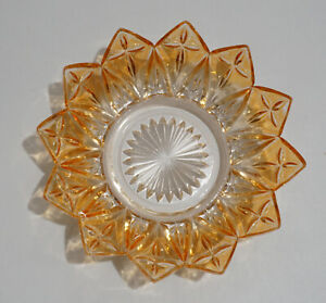 Iridescent Gold Glass Nut / Candy Bowl Pin Wheel Sun burst Style Design