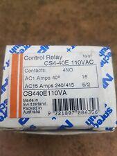 Sprecher Schuh Control Relay Cs4-40e 110vac 16amp