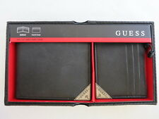 BRAND NEW!!! Guess Men's Brown Genuine Leather Wallet and CardHolder NIB
