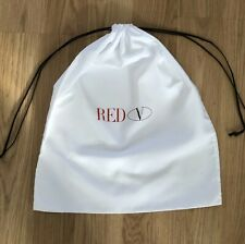 Red V. Drawstring Dust Bag. Storage/Travel. 44.5 x 38cm