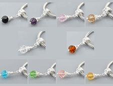 10Pcs Mixed Glass Dangle Beads Fit Charm Bracelet Necklace Wholesale