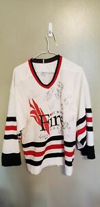 FORT WORTH FIRE AUTOGRAPHED MINOR LEAGUE HOCKEY JERSEY SIZE SMALL ADULT