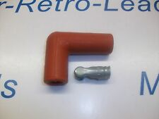 """RED 90"""" DEGREE IGNITION LEAD SPARK PLUG BOOT FITTING 90"""" SPARK PLUG TERMINAL"""