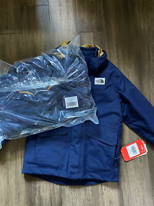 The North Face Boys 3 In 1 Gordon Lyons Jacket Blue Xs (6) Coat $160