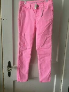 JUSTICE Girl's Simply Low Pants Pink Size 12R