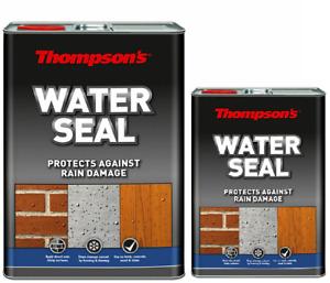 Thompsons Water Seal 5L Rain Damage Protection Damp Waterproof Block Brick Wood