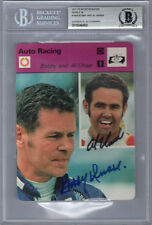 BOBBY & AL UNSER SIGNED #1604 SPORTSCASTER CARD ENCAPSULATED BECKETT BAS