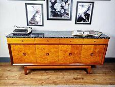 Mid Century Sideboard Burr Elm Lebus Retro 1960s vintage cocktail cabinet teak