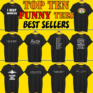 Cheap Funny T-Shirts Gift PREMIUM TOP TEN Offensive Rude Birthday Present S-5XL