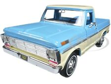 1969 FORD F-100 PICKUP TRUCK LIGHT BLUE/CREAM 1/24 CAR MODEL BY MOTORMAX 79315