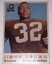 1959 Topps #10 JIM BROWN EX++ HOF Football Card 57 YrOld CLEVELAND Jimmy BROWNS