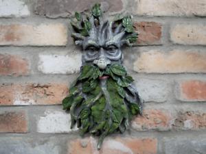 Tree-man Green Man Face Plaque Garden Home Wall Decor Gift Pagan Gothic H38