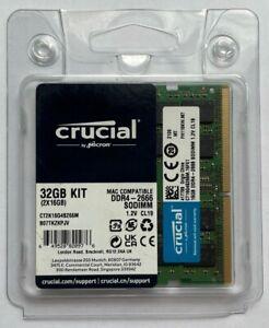 Crucial 32GB (2x16GB) PC4-21300 DDR4 2666 SODIMM Memory CT2K16G4S266M FOR MAC 3