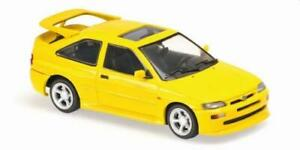 Ford Escort RS Cosworth in yellow 1:43 scale model from maxichamps