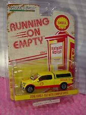 2016 FORD F-150 truck w/ CAMPER SHELL∞Yellow∞Running Empty∞Series 3∞GREENLIGHT