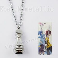 No Game No Life Imanity Race Piece King Metal Pendant Necklace Silver NIB #02