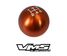 VMS RACING ORANGE ROUND CNC BILLET GEAR LEVER SHIFT KNOB FOR MAZDA 5 SPEED