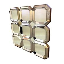 MIRROR ON MIRROR 81cm x 81cm Square Stacked Art Deco Panels Limited Stock
